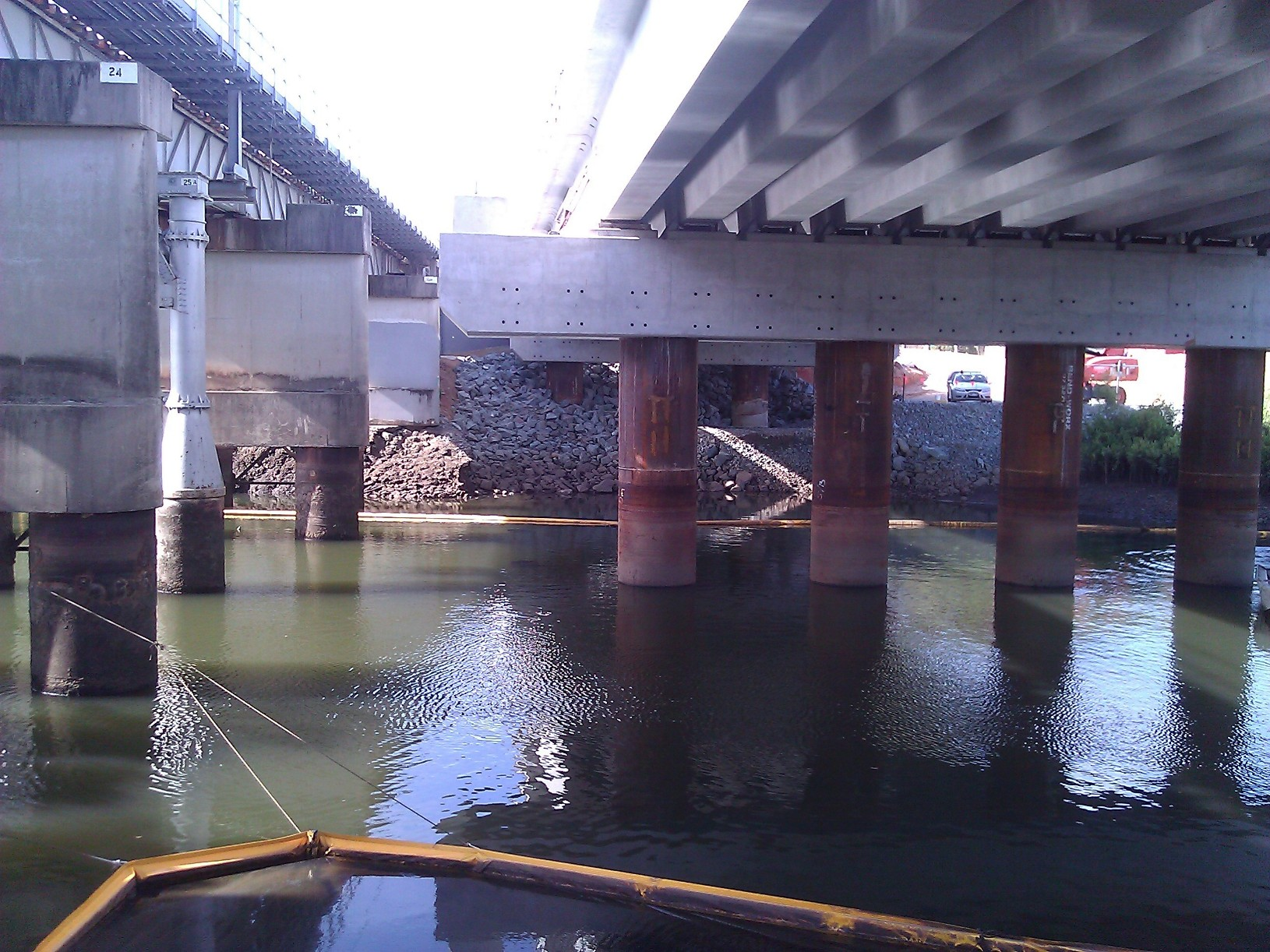 Moreton Bay Rail Link, Temporary Bridge